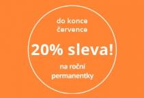 20% sleva na celoroční permanentku