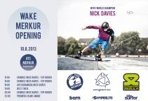 Wake Park Opening + exhibice Nick Davies